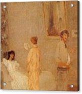 Whistler In His Studio James Abbott Mcneill Whistler Acrylic Print