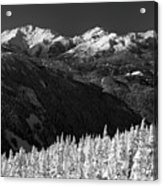 Whistler Winter Scenery Acrylic Print
