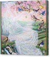 Whistling Angel-break Of Dawn   Acrylic Print
