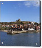 Whitby Harbour With Abbey Ruins Acrylic Print