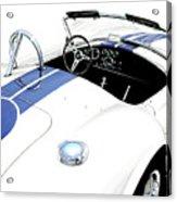 White Ac Cobra Acrylic Print by David Kyte