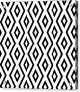 White And Black Pattern Acrylic Print