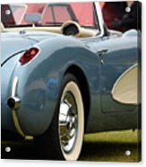 White And Light Blue Corvette Acrylic Print