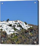 White Architecture In The City Of Oia In Santorini, Greece Acrylic Print