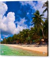 White Beach Boracay Acrylic Print