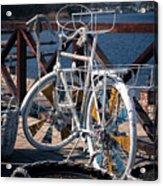 White Bike Acrylic Print