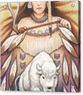 White Buffalo Woman Acrylic Print