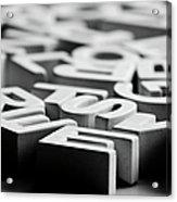 White Ceramic Letters Acrylic Print