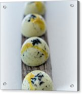 White Chocolate With Black Sesame Acrylic Print
