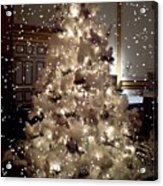 White Christmas Snow Acrylic Print