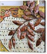 White Ckicken Acrylic Print