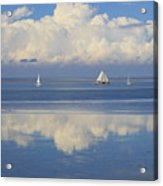 Romantic View With Sailboats In Holland Acrylic Print