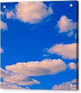 White Clouds In Blue Sky Acrylic Print