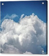 White Clouds In The Sky Acrylic Print