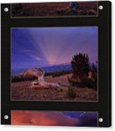White Clouds Triptych Acrylic Print