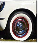White Corvette Front Fender Acrylic Print