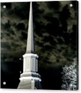 White Cross Dark Skies Acrylic Print by Joshua House