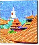 White Dagoba View Acrylic Print