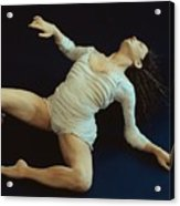White Dancer Left View Acrylic Print