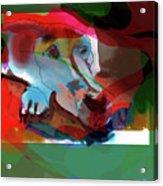 White Dog Acrylic Print