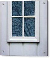 White Door Detail Acrylic Print