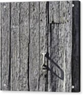White Door Handle Acrylic Print