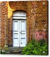 White Door Acrylic Print