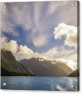 White Dragon Cloud In The Sky At Lake Manapouri Acrylic Print