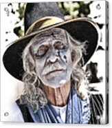 White Faced Cowboy Acrylic Print