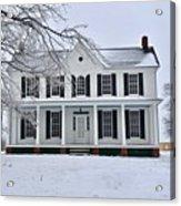 White Farm House During Winter Acrylic Print