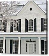 White Farm House In Winter Acrylic Print