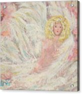 White Feathers Secret Garden Angel 4 Acrylic Print
