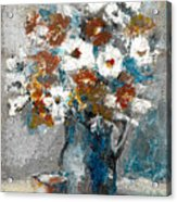 White Flower In Vase And Mug Acrylic Print