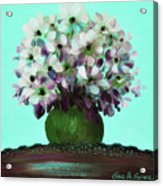 White Flowers In A Vase Acrylic Print