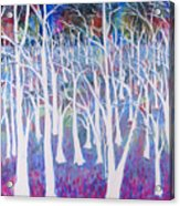 White Forest Acrylic Print