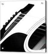White Guitar 10 Acrylic Print