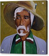 White Haired Man - 2d Acrylic Print