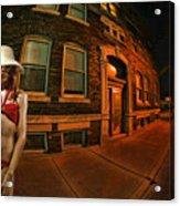 White Hat Street Acrylic Print