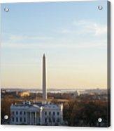 White House And Washington Monument Acrylic Print