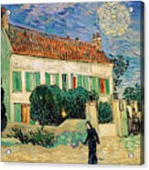 White House At Night Acrylic Print by Vincent Van Gogh