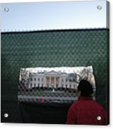 White House Fence Washington Dc Acrylic Print