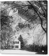 White House In Winter Acrylic Print