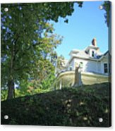 White House With Hillside Shade Acrylic Print