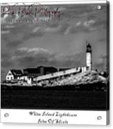 White Island Lighthouse Acrylic Print