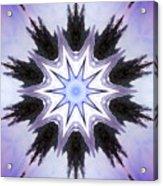 White-lilac-black Flower. Digital Art Acrylic Print