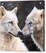 White Magic Acrylic Print by Sandi Baker