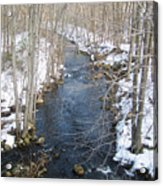 White Mill Park - Winter 2 Acrylic Print