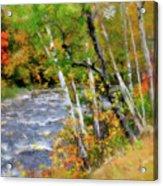 White Mountains Brook Acrylic Print