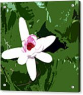 White On Green Work Number 7 Acrylic Print