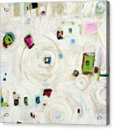 White On White Abstract Acrylic Print